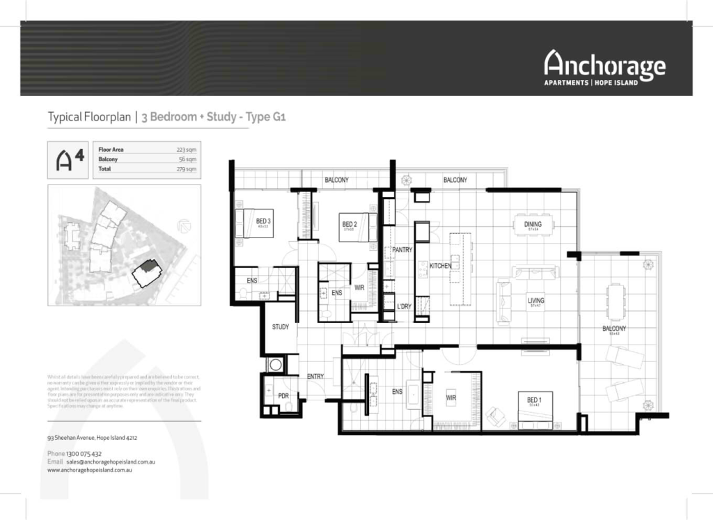 Anchorage Apartment Floor Plan Hope Island